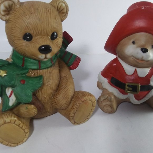 Homco Other - Vintage Holiday ceramic bears by Homco Japan